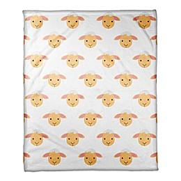 Designs Direct Lamb Face Friend Throw Blanket