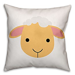 Designs Direct Lamb Face Friend Square Throw Pillow