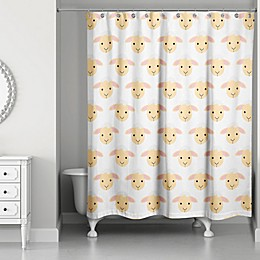 Designs Direct Lamb Face Friend Shower Curtain