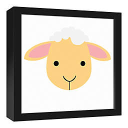 Designs Direct Lamb Face Framed Friend Framed Canvas Wall Art