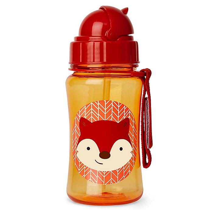 Alternate image 1 for SKIP*HOP® Zoo 12 oz. Fox Straw Bottle
