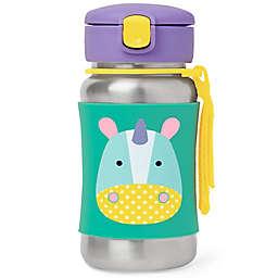 SKIP*HOP® Zoo 12 oz. Unicorn Straw Bottle in Stainless Steel