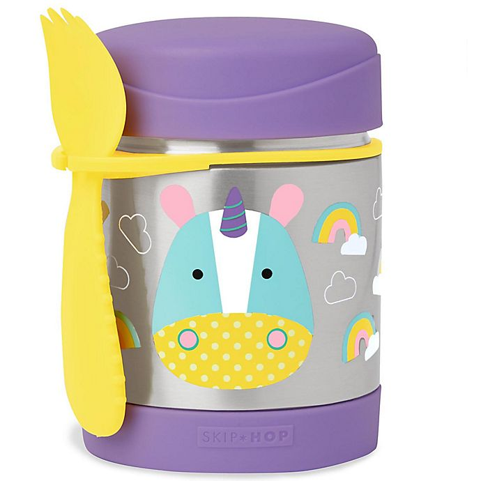 Alternate image 1 for SKIP*HOP® Zoo 11 oz. Insulated Food Jar in Unicorn