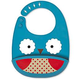 SKIP*HOP® Owl ZOO Fold & Go Silicone Bib