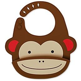 SKIP*HOP® Monkey ZOO Fold & Go Silicone Bib