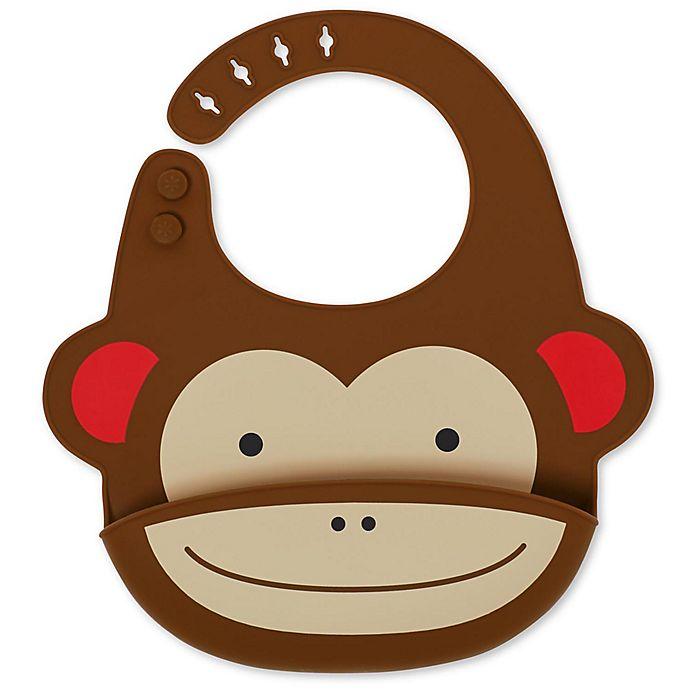 Alternate image 1 for SKIP*HOP® Monkey ZOO Fold & Go Silicone Bib