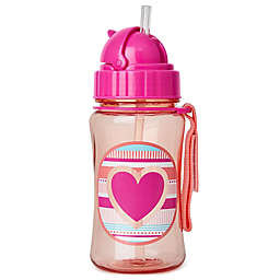 SKIP*HOP® Zoo 12 oz. Heart and Striples Straw Bottle