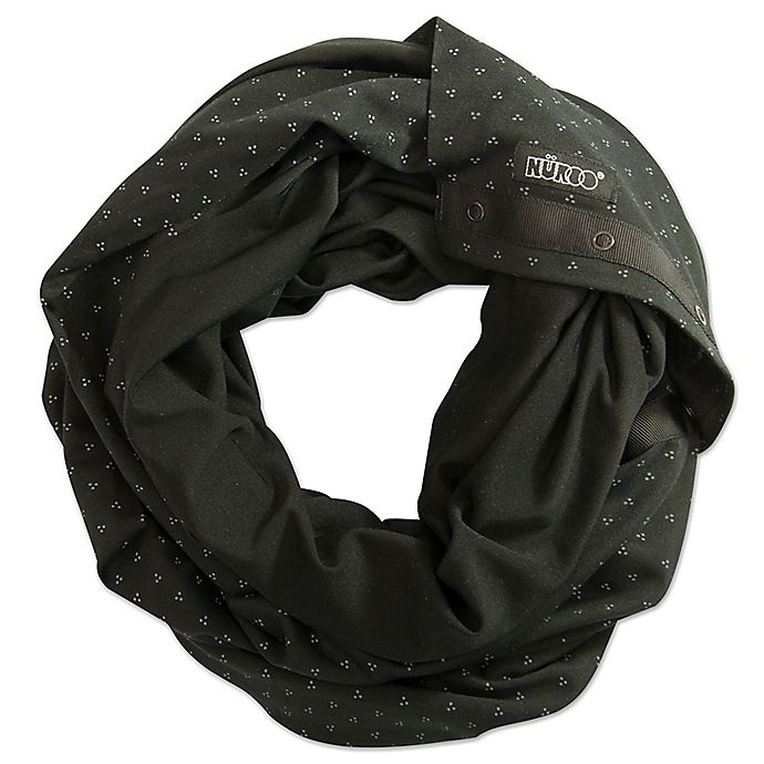 Alternate image 1 for NüRoo® Nursing Scarf in Black Floral Dot