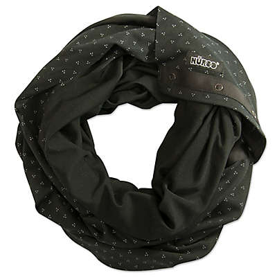 NüRoo® Nursing Scarf in Black Floral Dot