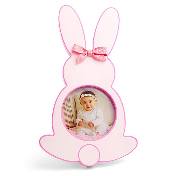 Alternate image 1 for Little Me® Baby Bunnies Die-cut Photo Frame