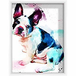 PTM Images Watercolor Pugsly 13.5-Inch x 17.5-Inch Framed Wall Art