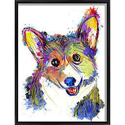 Colorful Pup Framed Wall Art