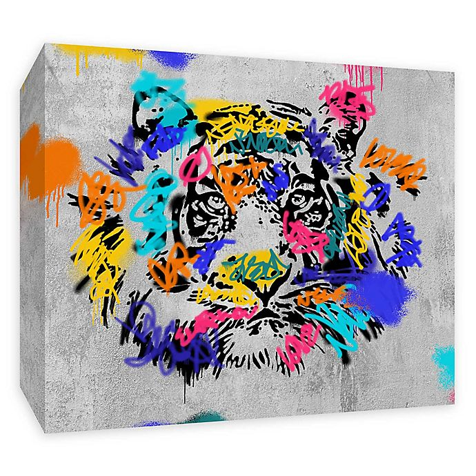 Alternate image 1 for PTM Images Street Tiger 20-Inch x 16-Inch Canvas Wall Art
