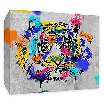 PTM Images Street Tiger 20-Inch x 16-Inch Canvas Wall Art