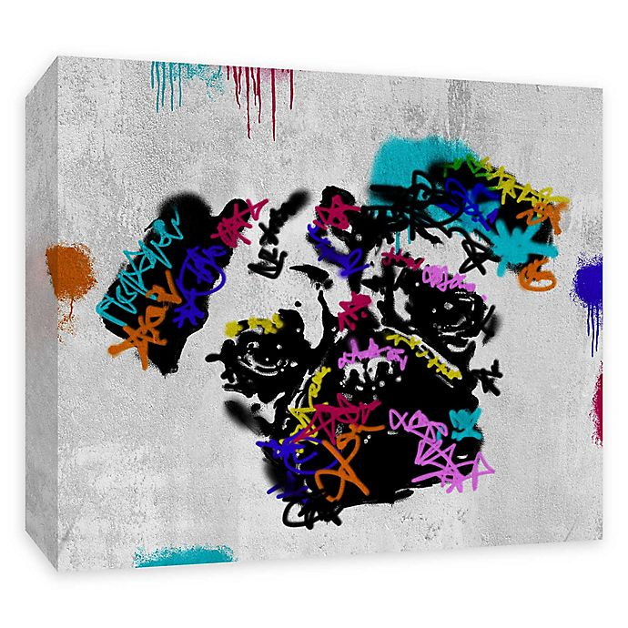 Alternate image 1 for PTM Images Street Pug 20-Inch x 16-Inch Canvas Wall Art