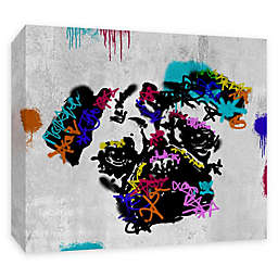 PTM Images Street Pug 20-Inch x 16-Inch Canvas Wall Art