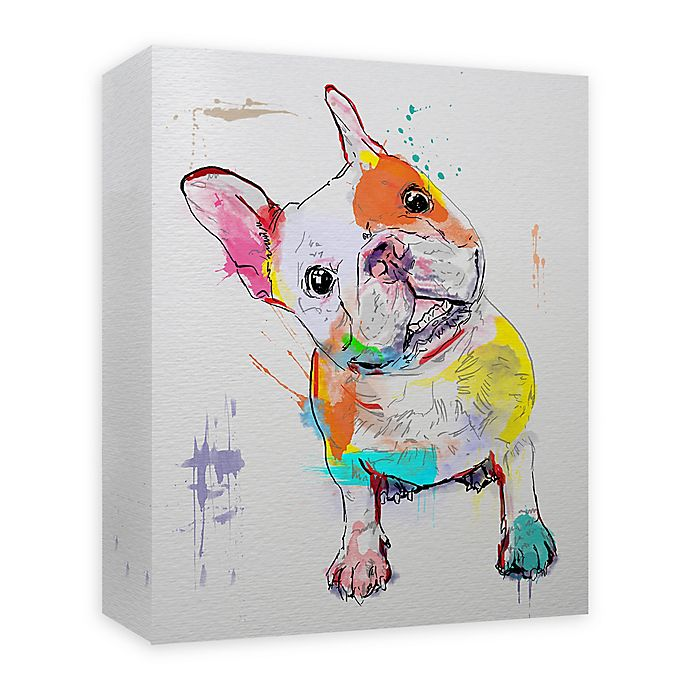 Alternate image 1 for Frenchie Paint 16-Inch x 20-Inch Canvas Wall Art