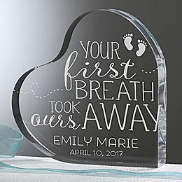 You Took Our Breath Away Acrylic Heart