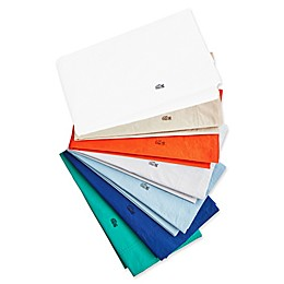 Lacoste Solid Washed Cotton Percale 300-Thread-Count Sheet Collection