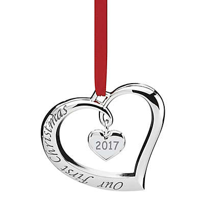 """Lenox® 2017 """"Our First Christmas"""" Ornament"""