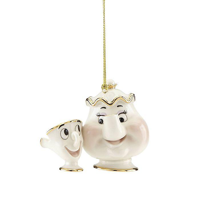 Lenox Christmas Ornaments.Lenox Disney Mrs Pots And Chip Christmas Ornament