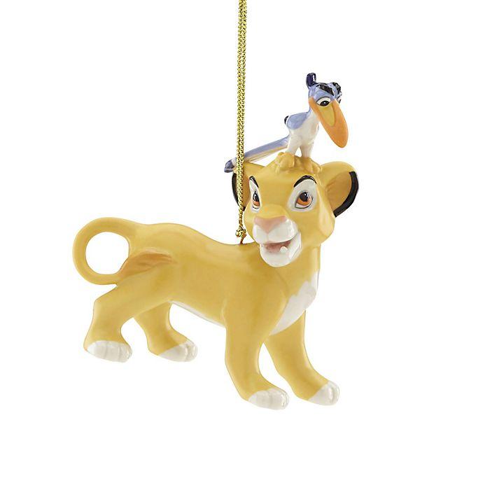 Lenox Disney Lion King Simba And Zazu Christmas Ornament Bed
