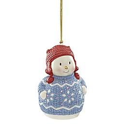 Lenox® Christmas Sweater Ornament™ Snowman