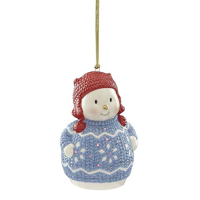 Alternate image 1 for Lenox® Christmas Sweater Ornament™ Snowman