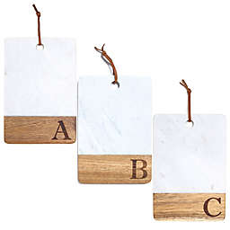 Artisanal Kitchen Supply® Monogram Marble and Acacia Wood Paddle Board