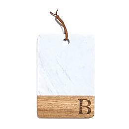 Artisanal Kitchen Supply® Monogram Marble and Acacia Wood Paddle Board