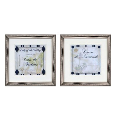 Lily and Lavender Wall Art (Set of 2) | Bed Bath & Beyond