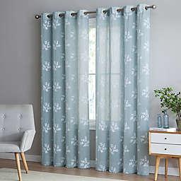 Be Artistic Breeze Leaf Grommet Top Window Curtain Panel