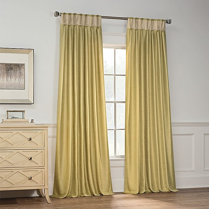 Alternate image 1 for Milena 108-Inch Pinch Pleat Window Curtain Panel in Citrus