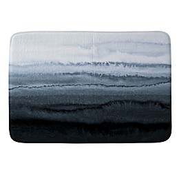 Deny Designs Within the Tides Memory Foam Bath Mat in Weather Grey