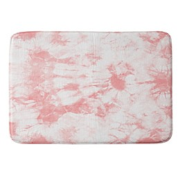 Deny Designs Amy Sia Tie Dye 3 Memory Foam Bath Mat in Pink