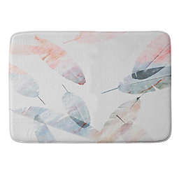 Deny Designs Shoreline Memory Foam Bath Mat in Coral