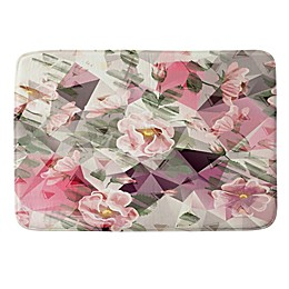 Deny Designs Geometric Shapes and Flowers Memory Foam Bath Mat