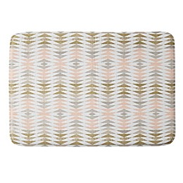 Deny Designs Metallic Triangles Memory Foam Bath Mat