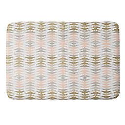 Deny Designs 17'' x 24'' Metallic Triangles Memory Foam Bath Mat