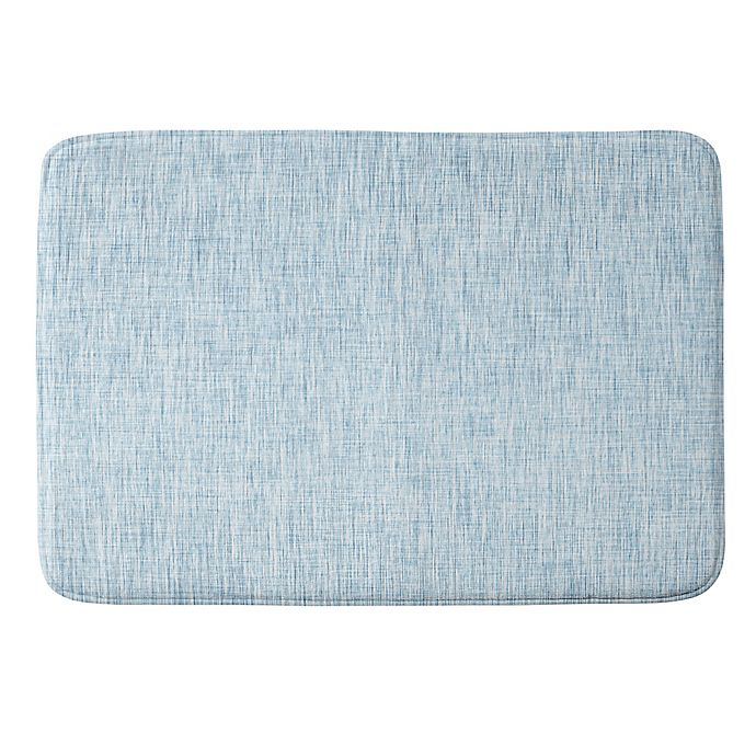 Alternate image 1 for Deny Designs Acid Wash Memory Foam Bath Mat in Blue