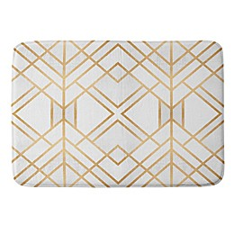 Deny Designs Fredriksson Geo Memory Foam Bath Mat in Gold