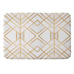 Deny Designs 17'' x 24'' Fredriksson Geo Small Memory Foam Bath Mat in Gold