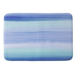 Deny Designs Amy Sia Ombre Watercolor Memory Foam Bath Mat in Blue