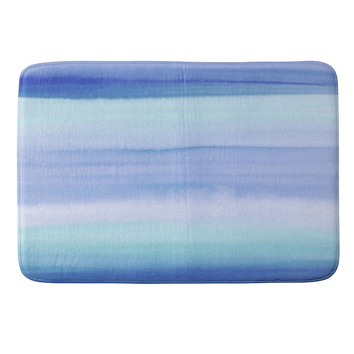 Alternate image 1 for Deny Designs Amy Sia Ombre Watercolor Memory Foam Bath Mat in Blue