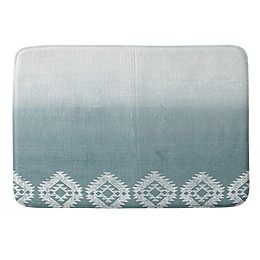 Deny Designs Dash and Ash 17-Inch x 24-Inch Morning Fog Memory Foam Bath Mat in Blue
