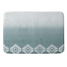 Deny Designs Dash and Ash 17-Inch x 24-Inch Morning Fog Memory Foam Bath Mat in Blue