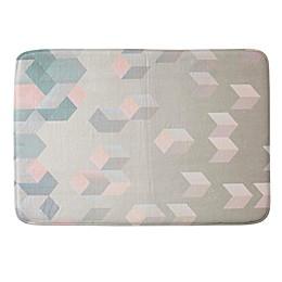 DENY Designs Carratoni Eragonal Geometry 24-Inch x 36-Inch Memory Foam Bath Mat in Pink