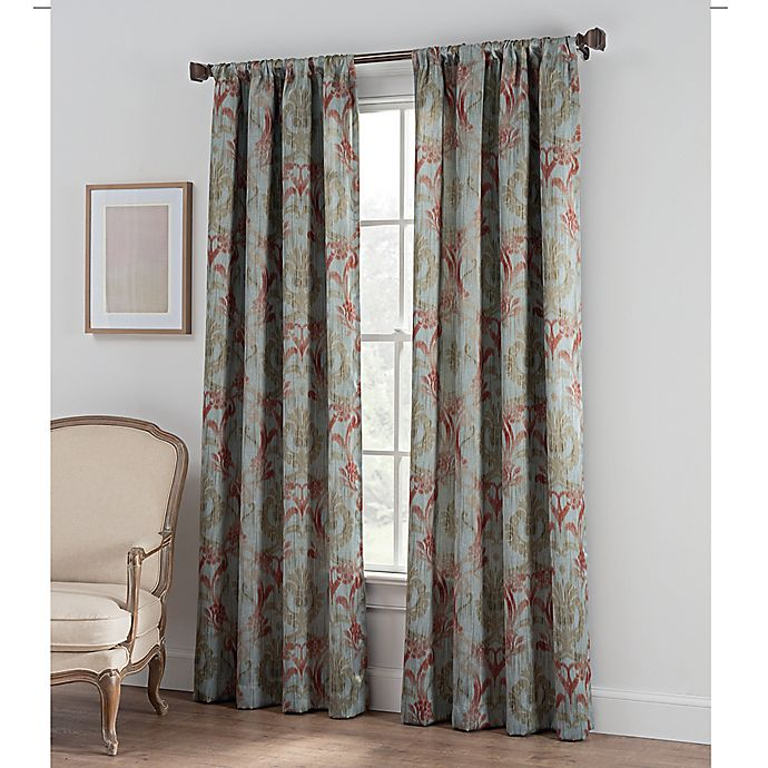 Alternate image 1 for Collette Print Rod Pocket Window Curtain Panel