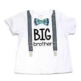"Mud Pie® ""Big Bro"" Shirt with Suspenders and Bowtie in White"