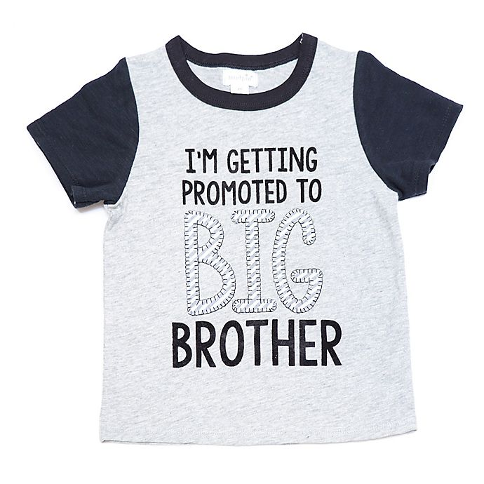 Mud Pie Im Being Promoted To Big Brother Shirt In Grey Buybuy Baby